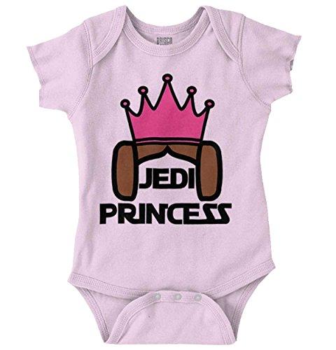 (Brisco Brands Princess Nerdy Geeky Science Fiction Movie Romper Bodysuit Pink)