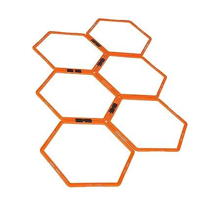 Hexagonal Agility Training Ring Physical Training Football Ladders Speed Rings