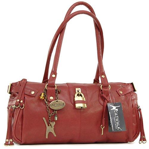 cuir Rouge Chancery Catwalk en Collection à Sac main wqF0tx7