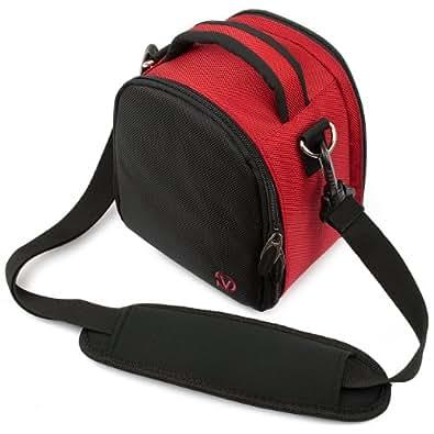 Vangoddy–Bolso de mano Laurel para Kodak Pixpro Astro Zoom AZ522Cámara digital, Rojo, Mediano
