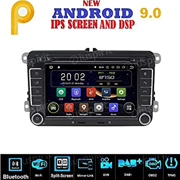 Android 9.0 GPS DVD USB SD WI-FI Bluetooth MirrorLink Radio 2 DIN ...