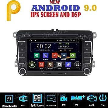 Android 9.0 GPS DVD USB SD WI-FI Bluetooth MirrorLink Radio 2 DIN ...