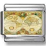 Antique Map of the World Photo Italian Charm