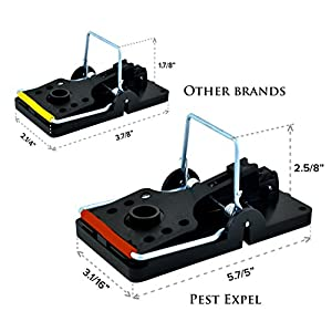 Premium Quality Rat Trap Set by PestExpel . Life time Warranty . Get rid of Rats & Rodents FAST. Best 4 Pack Heavy Duty Press N Set Rat Traps . Pest Control . No to Poison & Glue