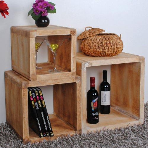 60 Off Lot De 3 Cube Design Table De Chevet Etagere Du Salon