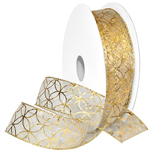 Morex Ribbon 7430.40/50-634 French Wired Polyester Mars Ribbon, 1 1/2