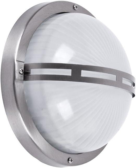 Oferta amazon: Brilliant 96109/82 Philipp - Lámpara de pared o techo para exterior (para 1 bombilla E27 de máximo 53 W, metal/cristal), color gris acero