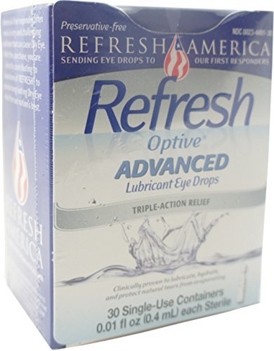 Personal Singles Lubricants Lubricants (REFRESH Optive Advanced Lubricant Eye Drops Single Use Containers 30 ea by Refresh)