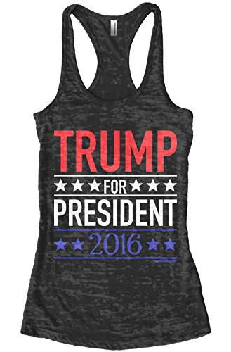 Threadrock-Womens-Trump-for-President-2016-Burnout-Racerback-Tank-Top