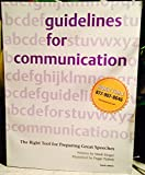 Guidelines for Communication 9780970737359