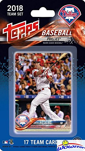Philadelphia Phillies 2018 Topps Baseball EXCLUSIVE Special Limited Edition 17 Card Complete Team Set with Ryhs Hoskins ROOKIE, Odubel Herrera & More Stars & Rookies! Shipped in Bubble Mailer! WOWZZER