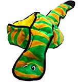 Outward Hound Invincibles Plush Snake Stuffing-free Durable Dog Toy