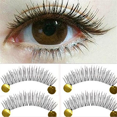 GAMT 10Pair New Makeup False Eyelashes Soft Natural Cross Long Eye Lashes Extension