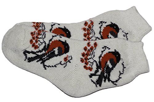 Bird Design Cute Natural Lambswool Soft Super Warm Cozy Winter Socks for Teens and Mums by Granny's Knitwear (White, Medium) Faster Mid Trail Shoes