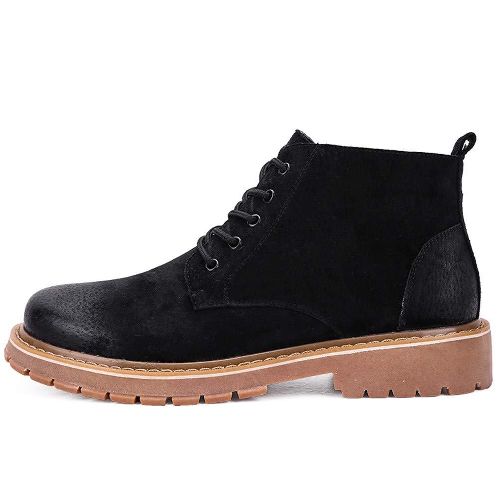 Xiaojuan-Stiefel Herren Leder Martin Stiefel Classic Design Schuhe (Farbe   Schwarz, Größe   43 EU)