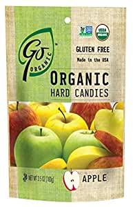 GoOrganic Organic Hard Candies, Apple, 3.5 Ounce Bag (Pack of 6)