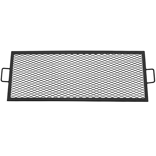 Metal Grill - Sunnydaze X-Marks Fire Pit Cooking Grill Grate, Outdoor Rectangle BBQ Campfire Grill, Camping Cookware, 40 Inch