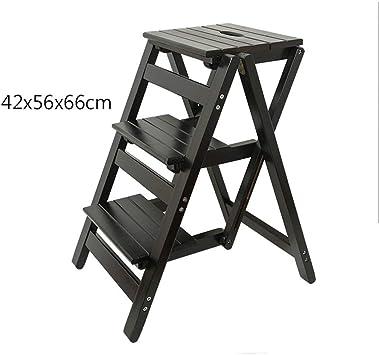 SED Escaleras de tijera multiusos Escaleras de 3 peldaños Taburete de peldaño Escalera interior Escalera pequeña Taburete de peldaño de madera Escalera plegable Silla Escalera antideslizante Taburete: Amazon.es: Bricolaje y herramientas