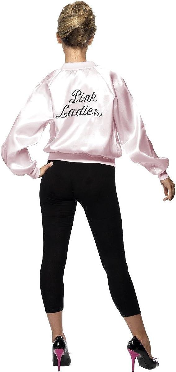 ADULT GREASE PINK LADIES JACKET SANDY 1950s FILM LICENSED 50s FANCY DRESS OUTFIT