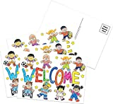 Eureka 'Welcome' Teacher Postcards for School Students, 36pc, 4'' W x 6'' L