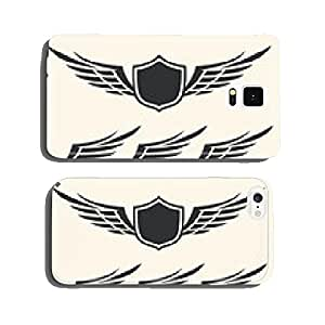 Vector set of isolated winged crests over white background. cell phone cover case iPhone6 Plus