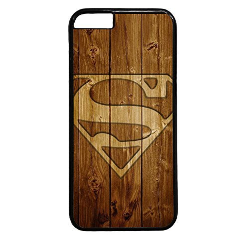 iphone 6 case,custom iphone 6(4.7) case, Wood background Superman logo diy iphone 6 case,pc Material,Drop Protection,Shock Absorbent