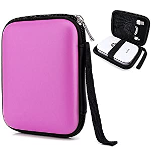 Elvam Easy Carrying Zippered Travel Mobile Printer Pouch Case for Polaroid ZIP Mobile Printer and HP Sprocket Portable Photo Printer