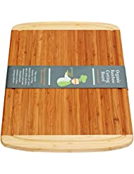 Extra Large Bamboo Cutting Board - Best Wooden Cutting Boards for Kitchen, Wood Cutting Board, Butcher Block Cutting Board, Chopping Board, Chopping Block and Carving Board - LIFETIME REPLACEMENTS