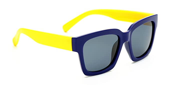 Tijn Kids niños gafas de sol cuadradas polarizadas de goma Flexiable para bebé Niños Edad 3