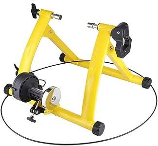Ofgcfbvxd La Bici de Ciclo Indoor Rodillo Moto Trainer Formación Familia Cubierta Sports Bike Trainer estación de Aptitud Bicicleta Camino Trainer (Color : Amarillo, tamaño : Un tamaño): Amazon.es: Hogar