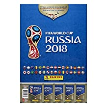 2018 FIFA Soccer World Cup Russia Sticker Collection Combo Album + 5 Packs