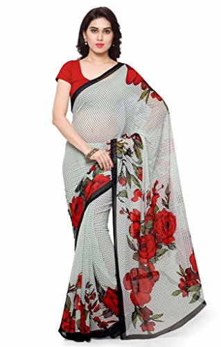 Vaamsi Chiffon Saree (Empress1009_White)