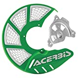 Acerbis X-Brake Vented Front Disc Cover with Mounting Kit Green/White – Fits: KTM 300 XC-W Six Days 2016–2018