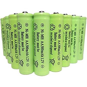 Amazon.com: 12 Piece Set AA NiCd Ni-Cd 300 mAh 1.2V