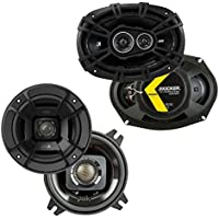 Polk DB402 4-Inch 135W 2-Way Speakers w/ Kicker 6x9-Inch 360W Coaxial Speakers