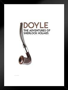 Pyramid America Adventures of Sherlock Holmes Arthur Conan Doyle Pipe Art Print Matted Framed Poster 20x26 inch