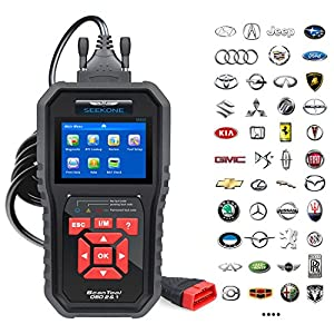 SEEKONE OBD2 Scanner, Professional Car Auto Diagnostic Code Reader Check Engine Light Diagnostic EOBD Tool for all OBDII Protocol Cars Since 1996(Upgraded SK860)
