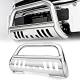 Scitoo Stainless Steel Bull Bar Front Bumper Grill Guard With Skid Plate For 2011-2016 Silverado/Sierra 2500HD/3500HD S/S