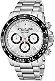 Stuhrling Original Mens Sport Chronograph Watch - Stainless Steel Brushed Matte Bracelet, 891 Formula 'i' Watches Collection (Silver)