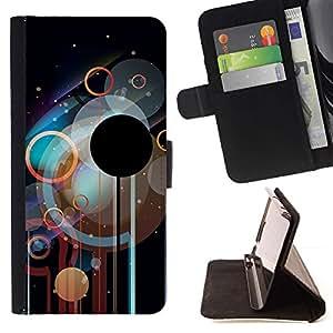Momo Phone Case / Flip Funda de Cuero Case Cover - Círculos Disco;;;;;;;; - HTC One A9