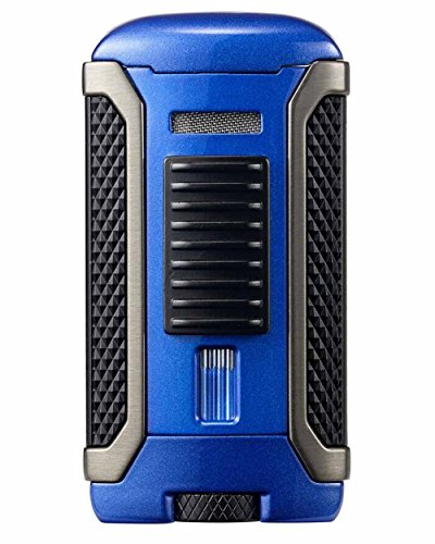 Apex Single Torch Jet Flame Cigar Lighter in an Attractive Gift Box Warranty Blue
