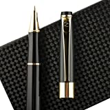 Fountain Pen Fine Nib with Gift Case and Ink Refill Converter - Showtime Black Limited Edition- Best Modern Classic Executive Writing Pens Set For Standard Calligraphy Cartridges on Sale -100%Warranty