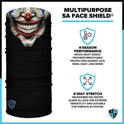 S A - UV Face Shield 5 Pack - Multipurpose Neck Gaiter, Elastic Face Mask for Men and Women
