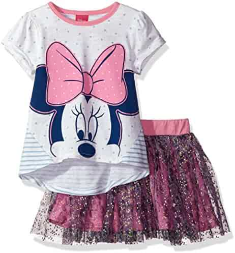 Disney Girls' Minnie Mouse 2-Piece Skirt Set