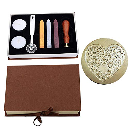 - Wax Seal Stamp Kit Heart Seal Stamp, VIYOUNG Classic Vintage Seal Wax Stamp Set, Creative Mysterious Stamp Maker Kit (Love)