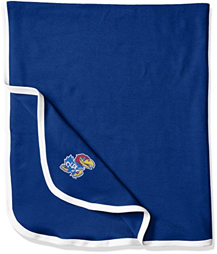 (Two Feet Ahead NCAA Kansas Jayhawks Infant Blanket, One Size, Royal/White )