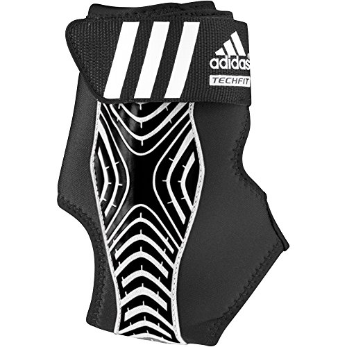 (adidas Adizero Speedwrap Ankle Brace, Black/White, Large)