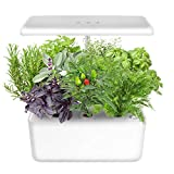 Indoor Gardening Kit Hydroponics Growing System Kit w/LED Plant Grow Light for 7 Plants,Hydroponics Indoor Home Gardening Kit Herb Seed Pod Kit w/Nutrients,Seeds Not Included.IDEER LIFE.
