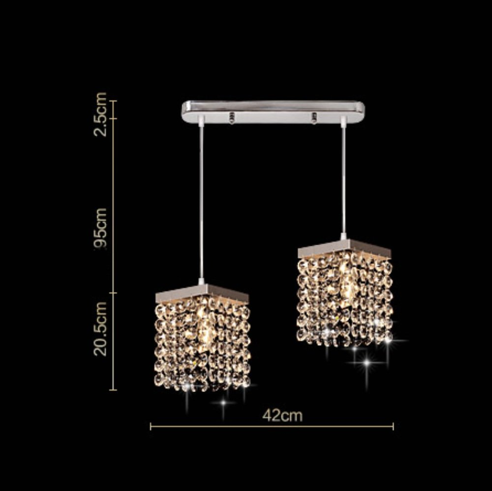 Kronleuchter Mehr Energie Sparen Kristall modernen minimalistischen Restaurant Esszimmer Bar Bett Balkon Gang Mode LOFT -1 Licht (Stil   1)