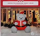 Christmas inflatable animated hugging teddy bear
